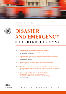 Disaster and Emergency Medicine Journal